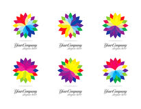 Colorful logo design Stock Photos