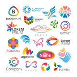 Colorful logo designs Royalty Free Stock Photos
