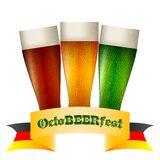Colorful logo for postcards to Oktoberfest Royalty Free Stock Photos
