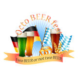 Colorful logo for postcards and greetings with Oktoberfest Stock Photography