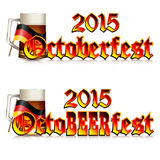 Colorful logo for postcards and greetings with Oktoberfest Royalty Free Stock Image