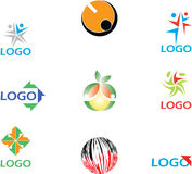 Colorful logos collection. Illustrated collection of Colorful logos isolated on white Royalty Free Stock Photos