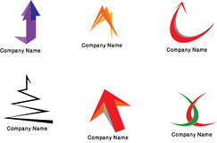 Colorful logos collection. Collection of illustrated Colorful logos isolated on white Stock Images