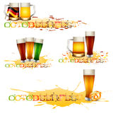 Colorful logos for postcards and greetings with Oktoberfest Stock Photography
