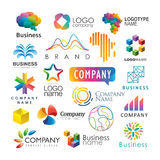 Colorful logotypes Stock Image