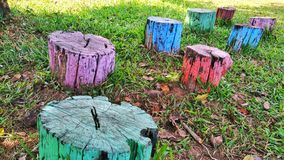 Colorful logs royalty free stock images
