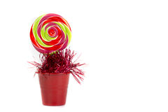 Colorful lolipop candy. Isolated on white background Stock Image