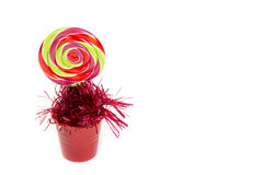 Colorful lolipop candy. Isolated on white background Royalty Free Stock Images
