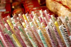 Colorful lollipop and candies. Background royalty free stock images