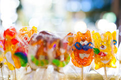 Colorful lollipop candies Royalty Free Stock Image