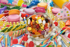 Colorful lollipop and candy. On a white background royalty free stock images