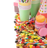 Colorful lollipop and candy Stock Photography