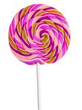 Colorful lollipop. Isolated colorful rainbow-swirl lollipop royalty free stock images