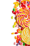 Colorful lollipop with jelly beans Royalty Free Stock Images