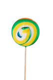 Colorful lollipop separated over white. Stock Image