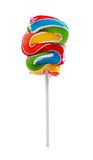 Colorful lollipop on stick isolated on white Stock Photography