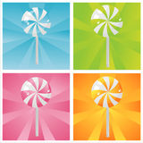 colorful lollipops backgrounds Stock Photo