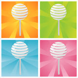 Colorful lollipops backgrounds Royalty Free Stock Photos