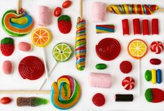 Colorful lollipops and candies Royalty Free Stock Photography