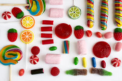 Colorful lollipops and candies Royalty Free Stock Photo