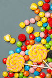 Colorful lollipops, candy canes Royalty Free Stock Images