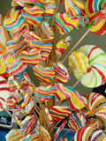Colorful lollipops. Different Fruit colorful lollipops Candies background Royalty Free Stock Photo