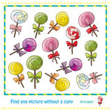 Colorful lollipops in hand drawn style game Stock Image