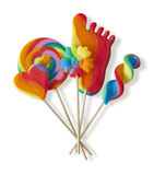Colorful lollipops Stock Images