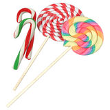 Colorful lollipops isolated on white background Royalty Free Stock Photo