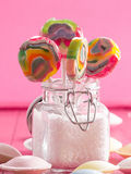 Colorful lollipops Stock Photos