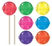 Colorful lollipops, vector  Royalty Free Stock Image