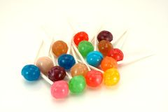 Colorful Lollipops on White Royalty Free Stock Images