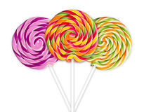 Colorful lolly pops Stock Photos
