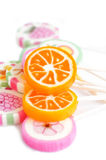 Colorful lollypops Stock Images