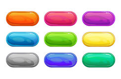 Colorful long horizontal glossy buttons Royalty Free Stock Photos