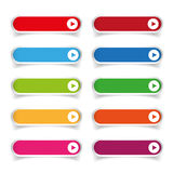 Colorful long round buttons Royalty Free Stock Images