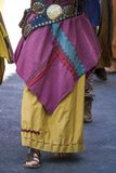 Colorful long skirt of a gipsy Stock Photo