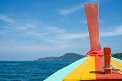 Colorful longtail boat in Thailand Stock Images