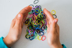 Colorful loom bands Royalty Free Stock Photo