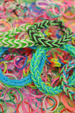 Colorful loom bands Royalty Free Stock Photography