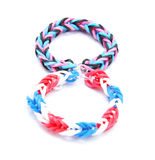 Colorful loom bracelet rubber bands Royalty Free Stock Image