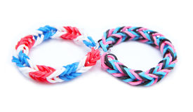 Colorful loom bracelet rubber bands Stock Images