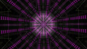 Colorful looping kaleidoscope, abstract motion graphics background. Animation. Energetic impulses spreading all over the