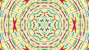 Colorful looping kaleidoscope sequence. Abstract motion graphics background.  stock footage