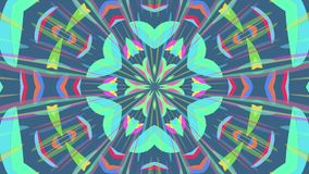 Colorful looping kaleidoscope sequence. Abstract motion graphics background.  stock video footage