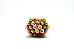Colorful. Lots of colorful crayons.It's very beautiful color royalty free stock photos