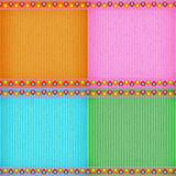 Colorful lotus card board texture Stock Photography