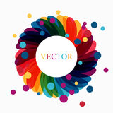 Colorful lotus flower and Enso zen circle concept illustration. Royalty Free Stock Photo