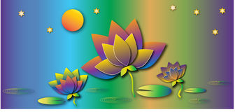 Colorful lotus Royalty Free Stock Photography