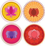 Colorful Lotus Mandala Stock Photography